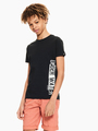 garcia t-shirt met tekstprint zwart q03400