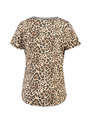 garcia t-shirt met allover print pg900502 bruin