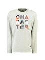 garcia sweater met opdruk l91065 grijs