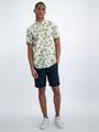 garcia overhemd met allover print o01037 geel