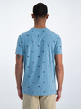 garcia t-shirt met allover print o01005 blauw