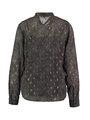 garcia blouse met strikkraag ge901002 zwart-goud