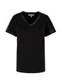 garcia t-shirt met glitterdetails n00205 zwart