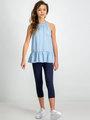Garcia Shirt Mouwloos D92626 Blauw