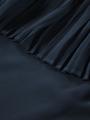 garcia off-shoulder top donkerblauw q00002
