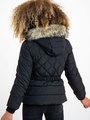 garcia puffer jas met ceintuurband gj920801 zwart