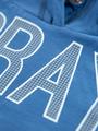garcia hoodie met opdruk n05463 blauw