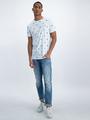 garcia t-shirt met allover print o01005 wit