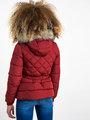 garcia puffer jas met ceintuurband gj920801 rood