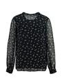 yezz blouse met allover print py900810 zwart