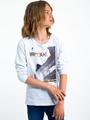 garcia long sleeve met opdruk i93400 wit