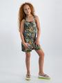 garcia jumpsuit met allover print o02488 groen