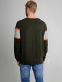 chief sweater met tekst pc910716 groen
