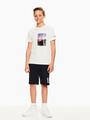garcia t-shirt met fotoprint wit q03407