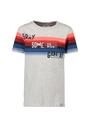 garcia t-shirt met opdruk n05404 grijs