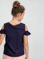 Garcia T-shirt met Studs D92636 Blauw