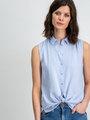 Garcia Shirt Mouwloos D90237 Lichtblauw