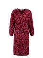 garcia jurk met panterprint l90080 roze-rood