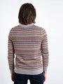 garcia trui met fair isle design l91047 grijs
