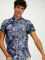 Garcia Overhemd Korte Mouwen D91232 Blauw
