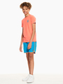 garcia t-shirt met borstprint oranje q03408