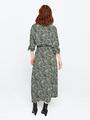 garcia midi jurk met allover print pg000306 groen