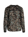 sisterspoint blouse met allover print isra zwart
