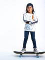 garcia sweater met allover print n05462 wit