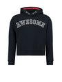 garcia hoodie met tekst j92660 blauw