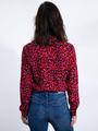 garcia blouse met panterprint l90031 roze-rood