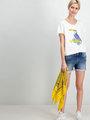 garcia t-shirt korte mouwen e90007 wit