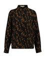 garcia blouse met allover print ge900901 zwart