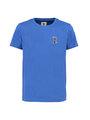 garcia t-shirt met zijstrepen g93400-2731 blauw