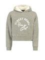 garcia hoodie met tekst h92664 grijs