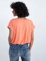 garcia t-shirt met satijnen voorkant n00206 koraalroze