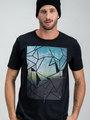 garcia t-shirt met opdruk h91203 zwart