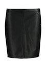 garcia leatherlook rok k90120 zwart