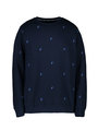 cars sweater met allover print cento blauw