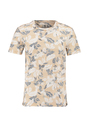 garcia t-shirt met allover print o01006 geel