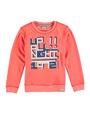 garcia sweater met opdruk n05460 oranje