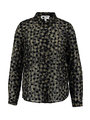 garcia blouse met allover print ge901204 zwart