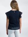 garcia blouse met korte mouwen l92632 blauw