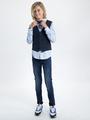 garcia overhemd met allover print l9363 blauw