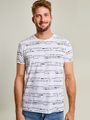 chief t-shirt met print PC910604 wit