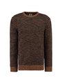 garcia trui met lange mouwen l91048 blauw-bruin