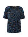 garcia t-shirt met allover print j90208 blauw