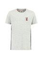 garcia t-shirt met zijstrepen g93400 grijs