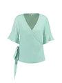 garcia t-shirt v-hals e90035 groen