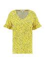garcia t-shirt met print e90011 geel