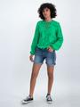 garcia blouse met bloemendessin o00035 groen